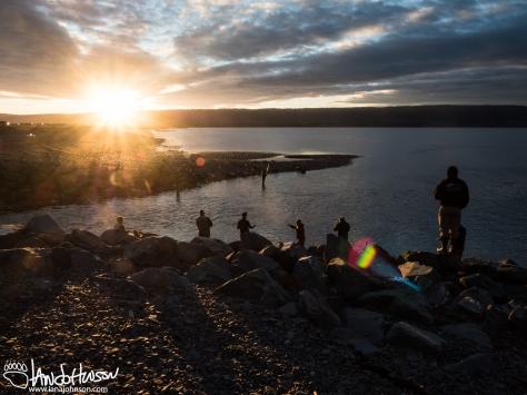 Fishing hole, salmon, homer, alaska